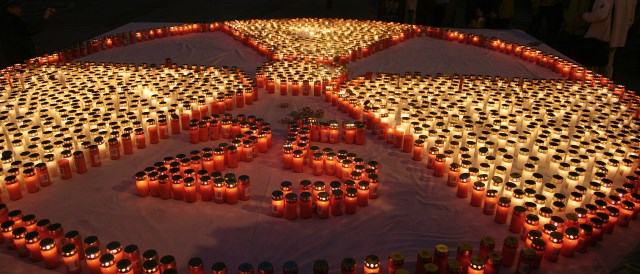 A commemoration of the Chernobyl disaster in 2011, only weeks after the Fukushima nuclear disaster had occured.