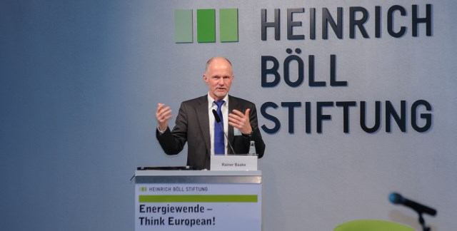 "Rainer Baake speaking at ""Energiewende - Think European!"""