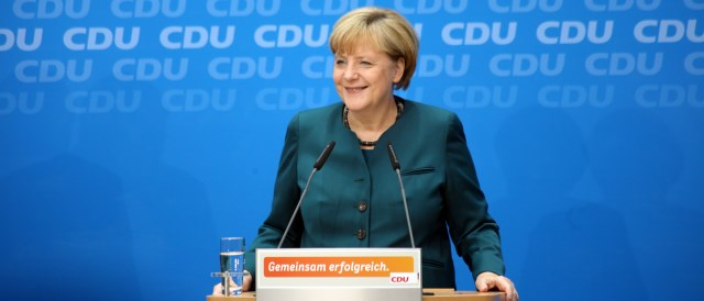 Merkel on the day after the election. (Photo by CDU Deutschland)