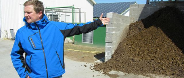 A producer of livestock, biogas and solar energy, near Husum, Germany.