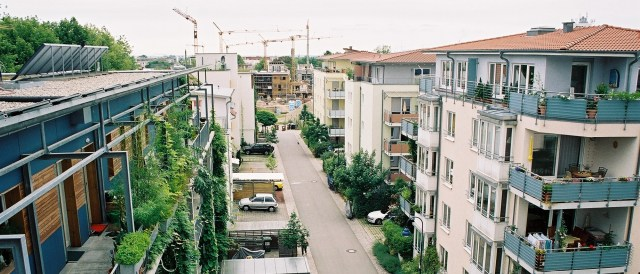 Much-cited example for sustainable urban planning involving citizens' partizipation: Vauban, Freiburg. (Photo by ADEUPa Brest, CC BY-NC-SA 2.0)