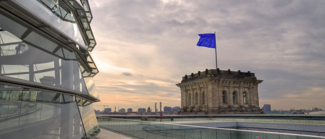 EU Flag on Reichstag building