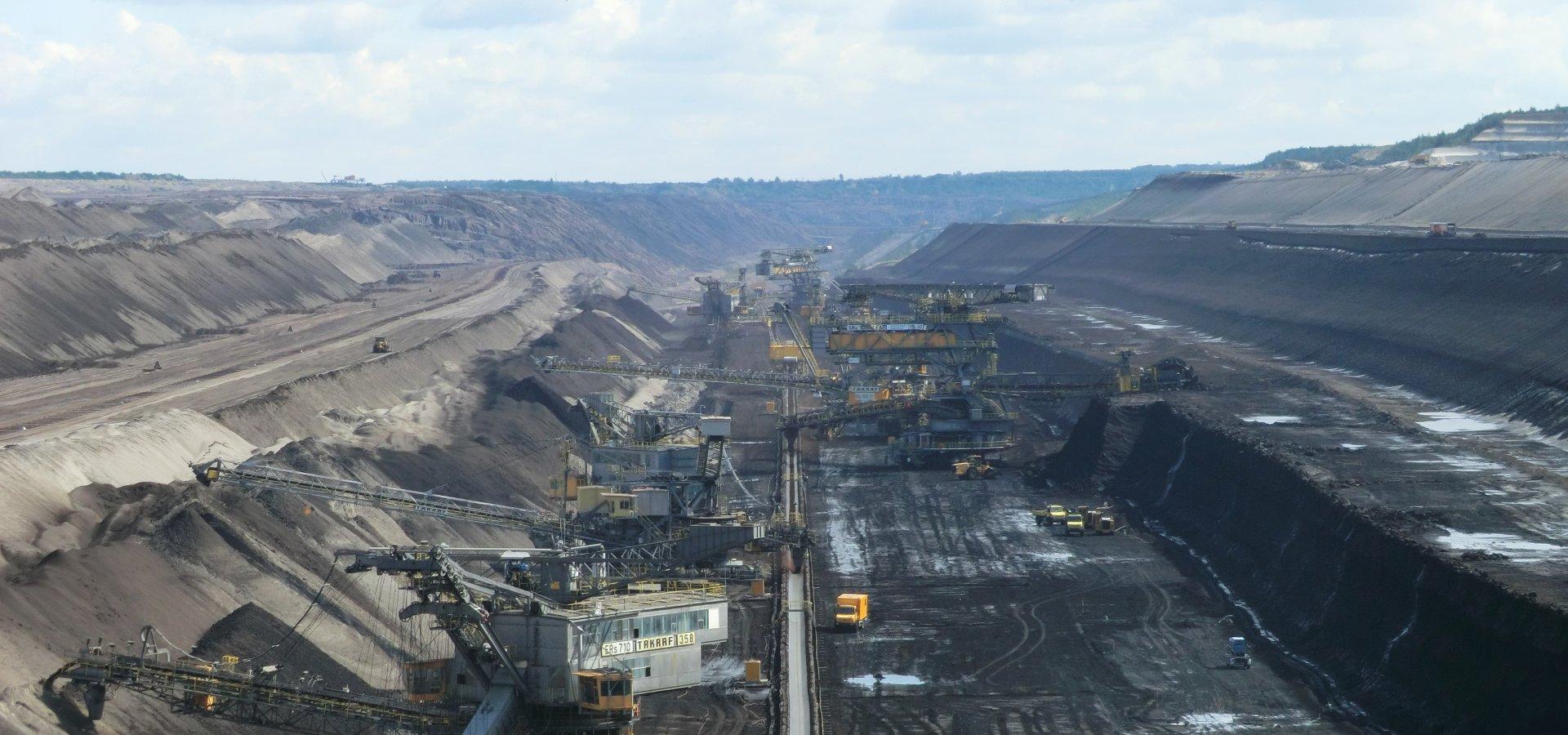 Welzow open-pit mine