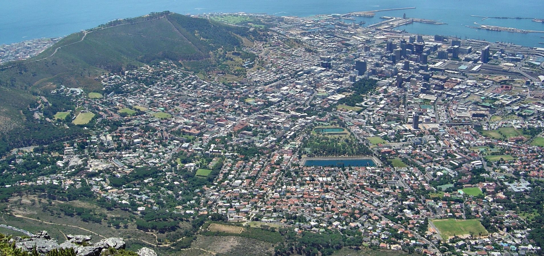 View of Cape Town and the Waterfront from Table Mountain