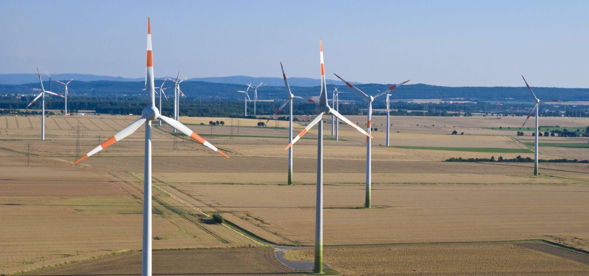 A onshore wind farm in Lower Saxony, Germany
