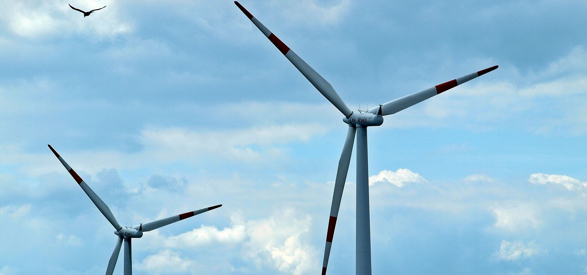 Pushback Against Onshore Wind Power In Germany Gets Real Energy Two Turbines A Blue And Cloudy Sky The Left Top Corner