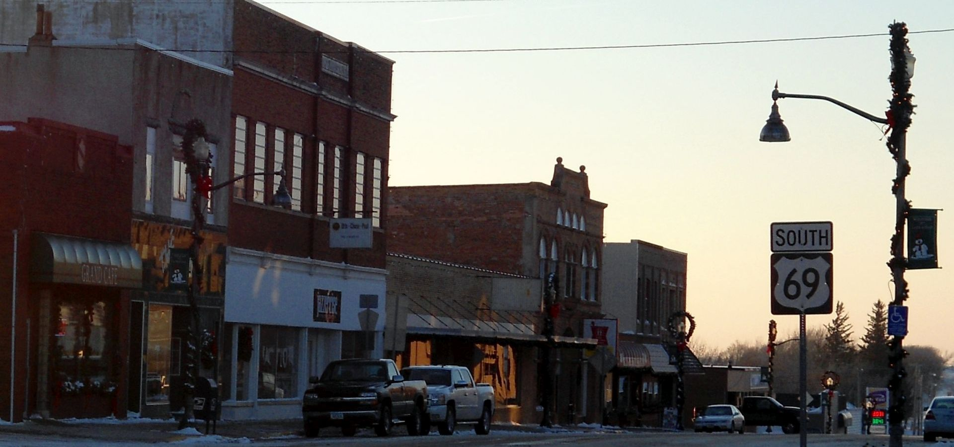 Main Street in Lake Mills, Iowa