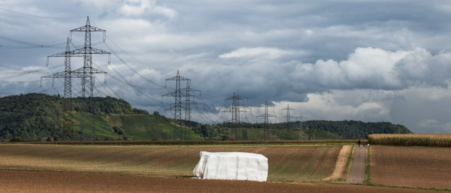 high-voltage power line near Ludwigsburg