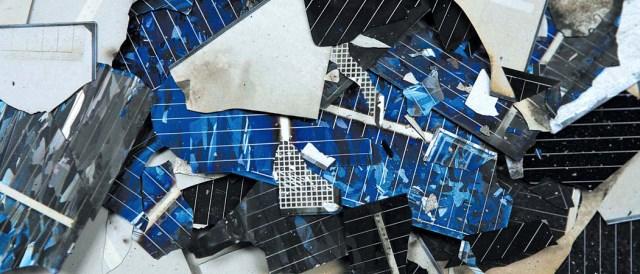 Broken Solar Wafers