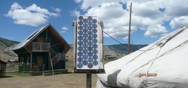 Solar panel in Mongolia