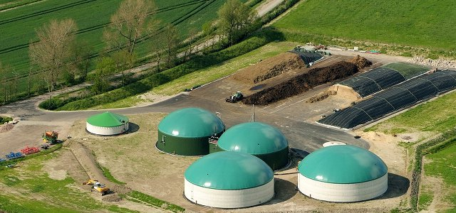 Biogas plant in rural Germany