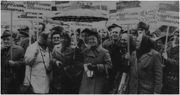 Kaiserstuhl protest against nuclear power in Germany