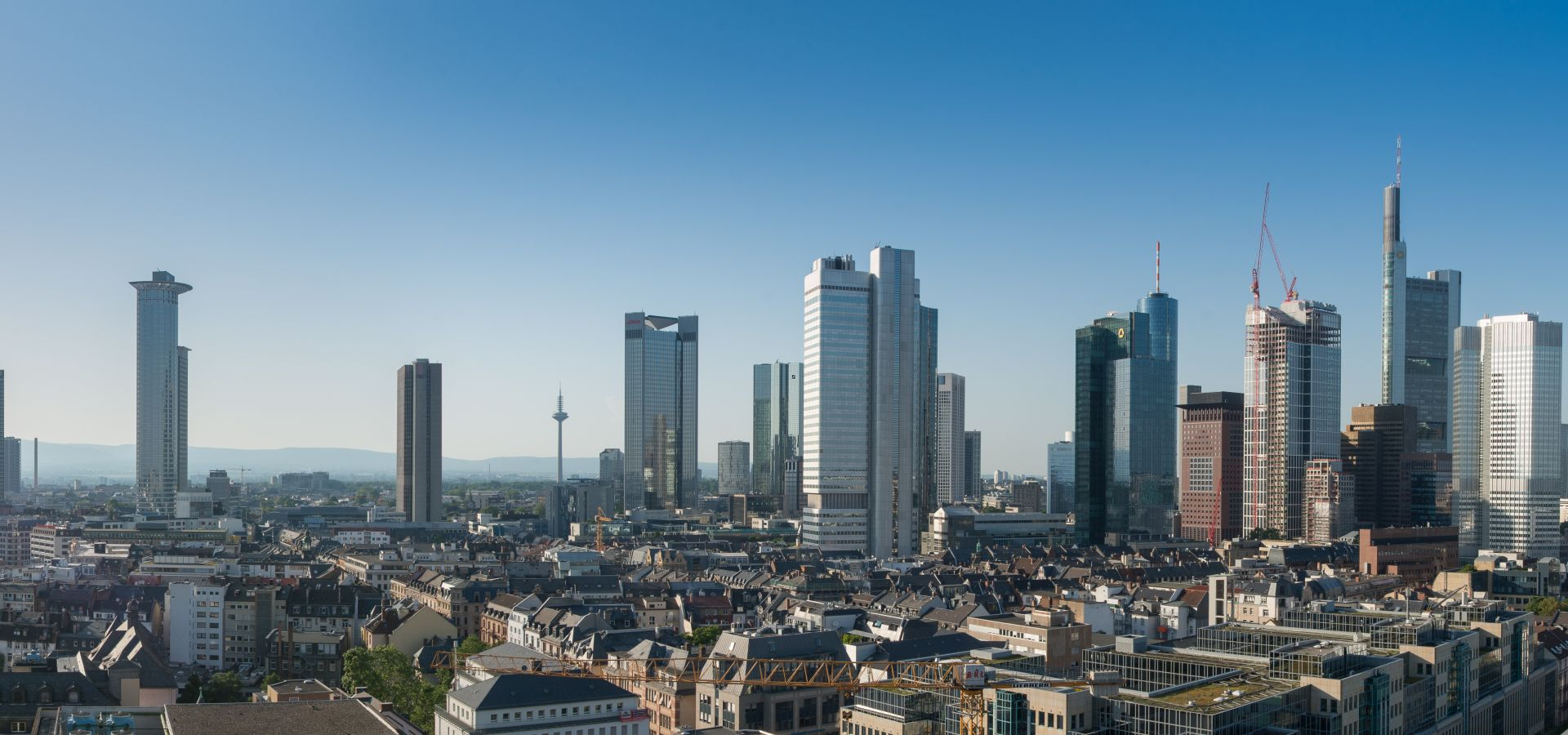 The skyline of Frankfurt am Main.