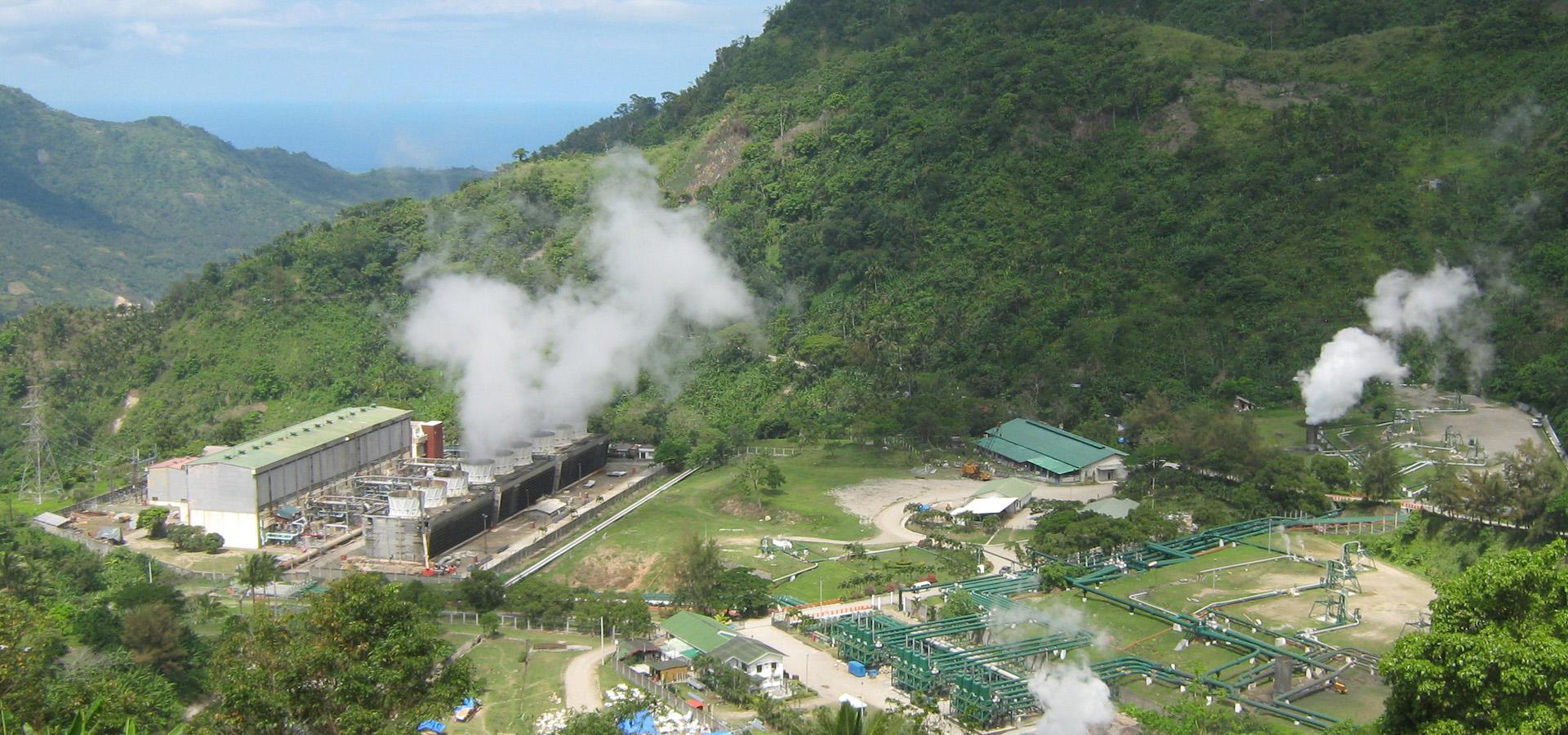 Palinpinon Geothermal power plant in Sitio Nasulo, Brgy. Puhagan, Valencia, Negros Oriental, Philippines