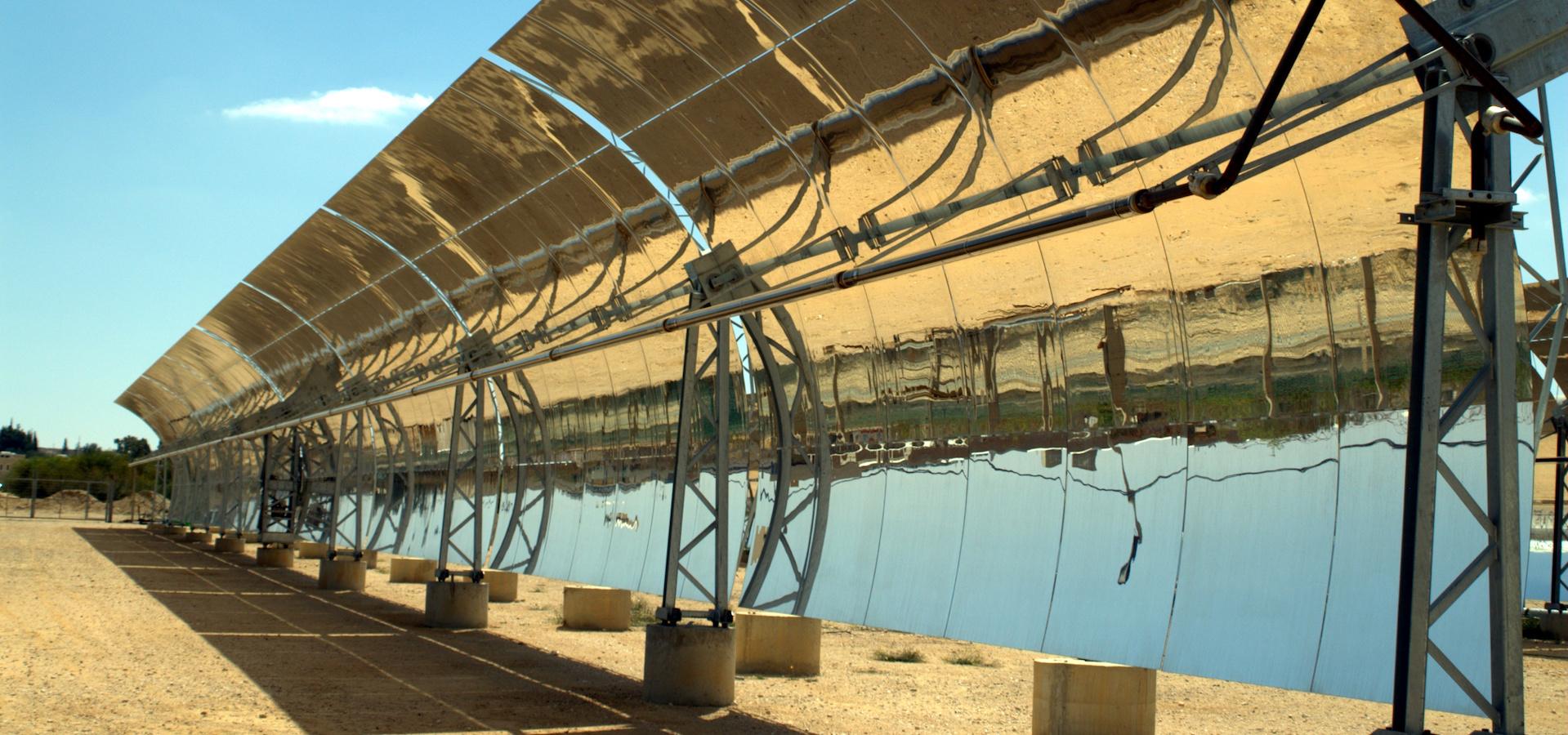 Solar Troughs in the Negev desert of Israel