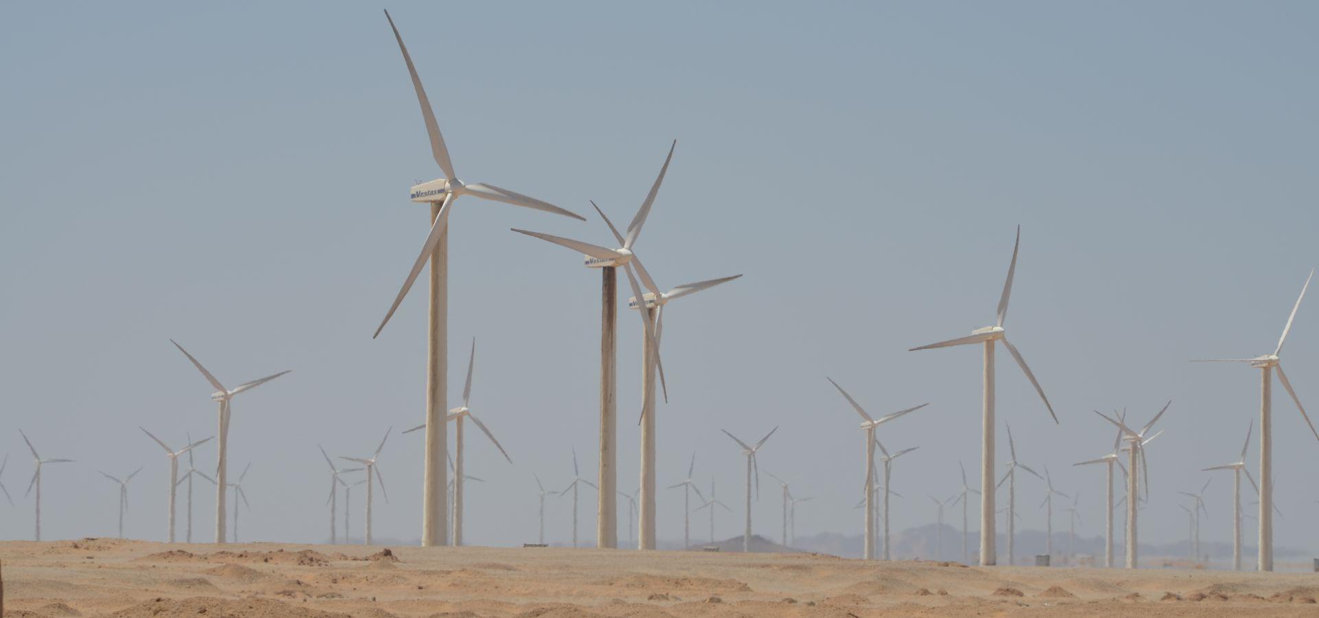 Wind turbine at Zaafarana Egypt by Hatem Moushir