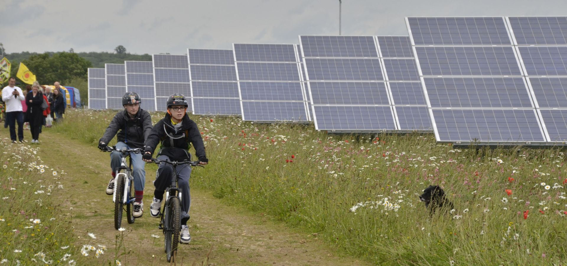 Visitors to the Westmill Solar Cooperative in the UK