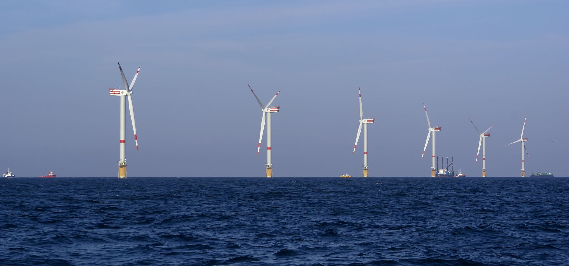Windmills in the Belgian North Sea Thornton Bank