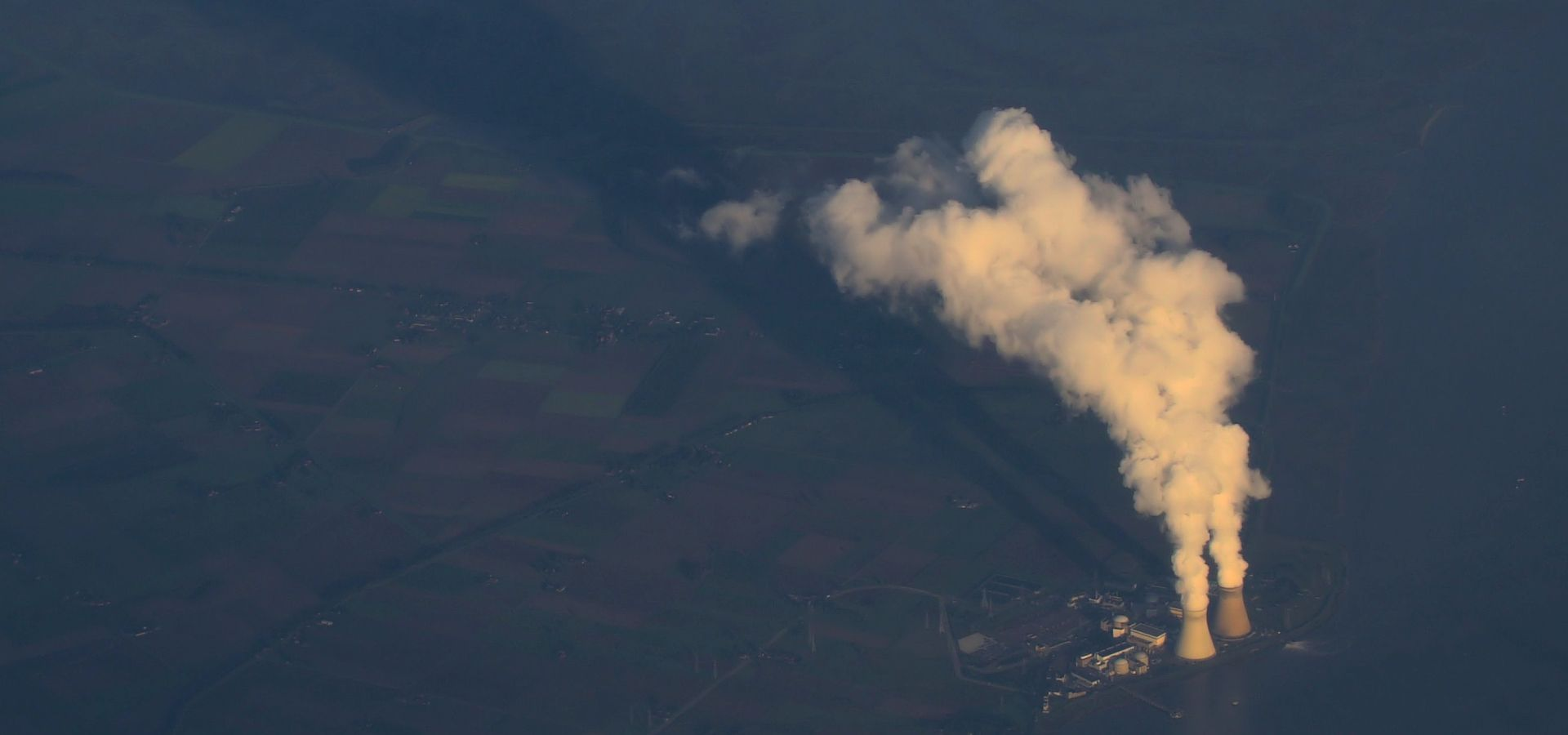 Doel power plant, Belgium from the sky