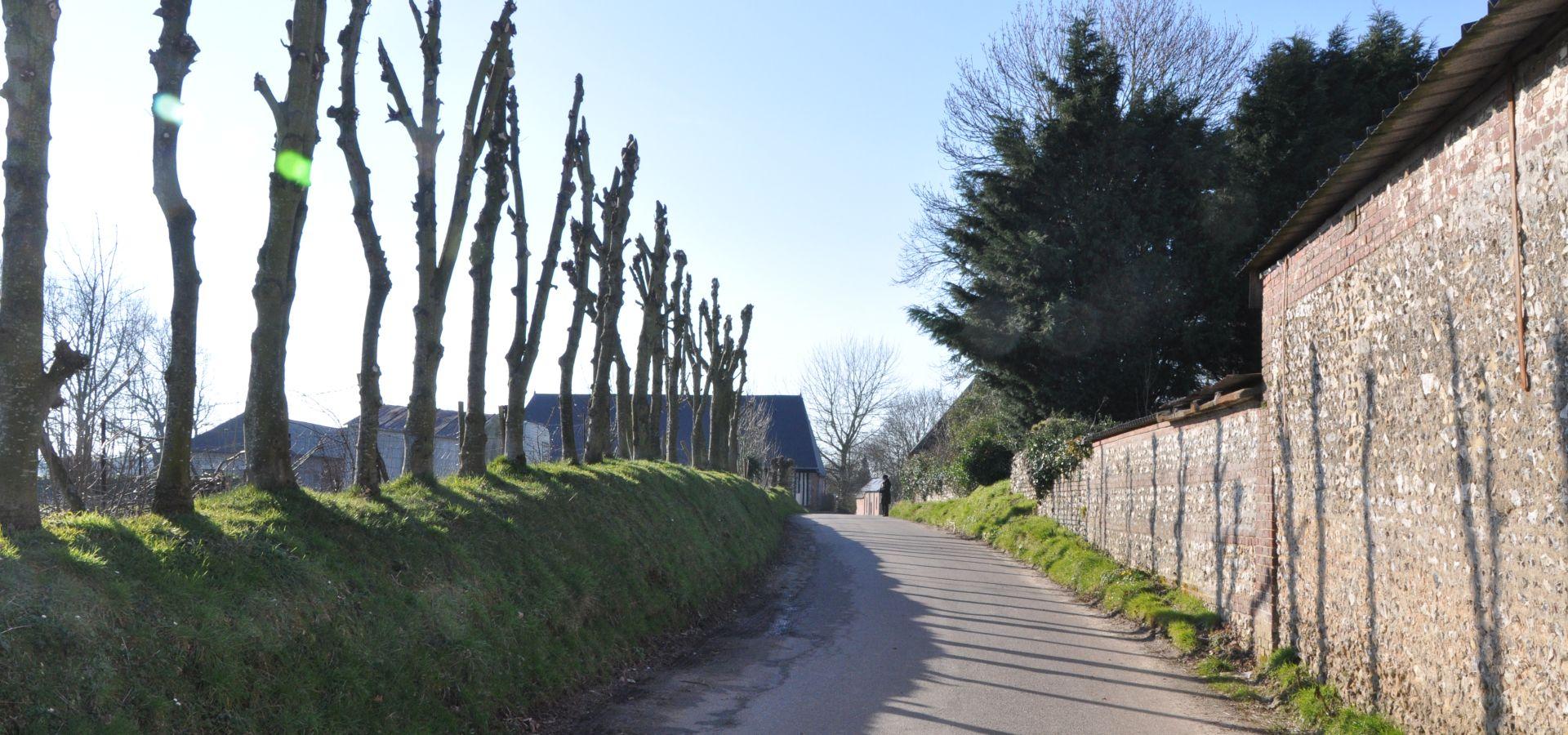 sun on the roads in Le Tilleul