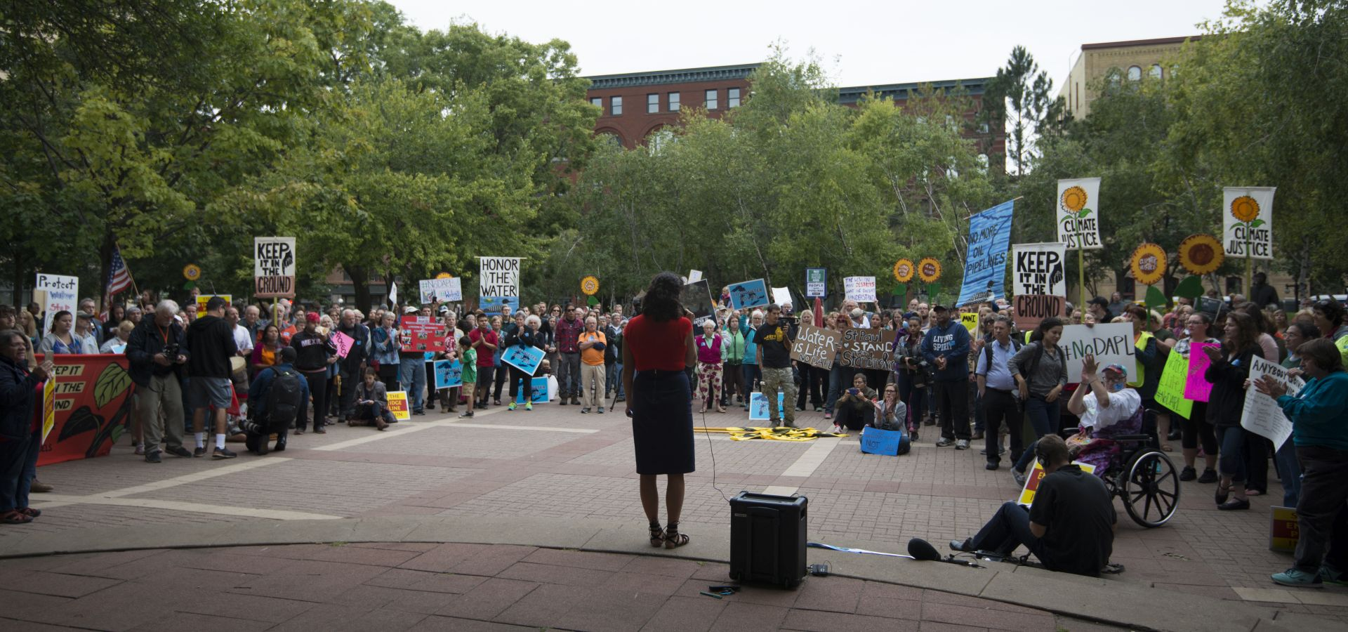 Solidarity rally with the Standing Rock in Saint Paul, against the Dakota Access Pipeline