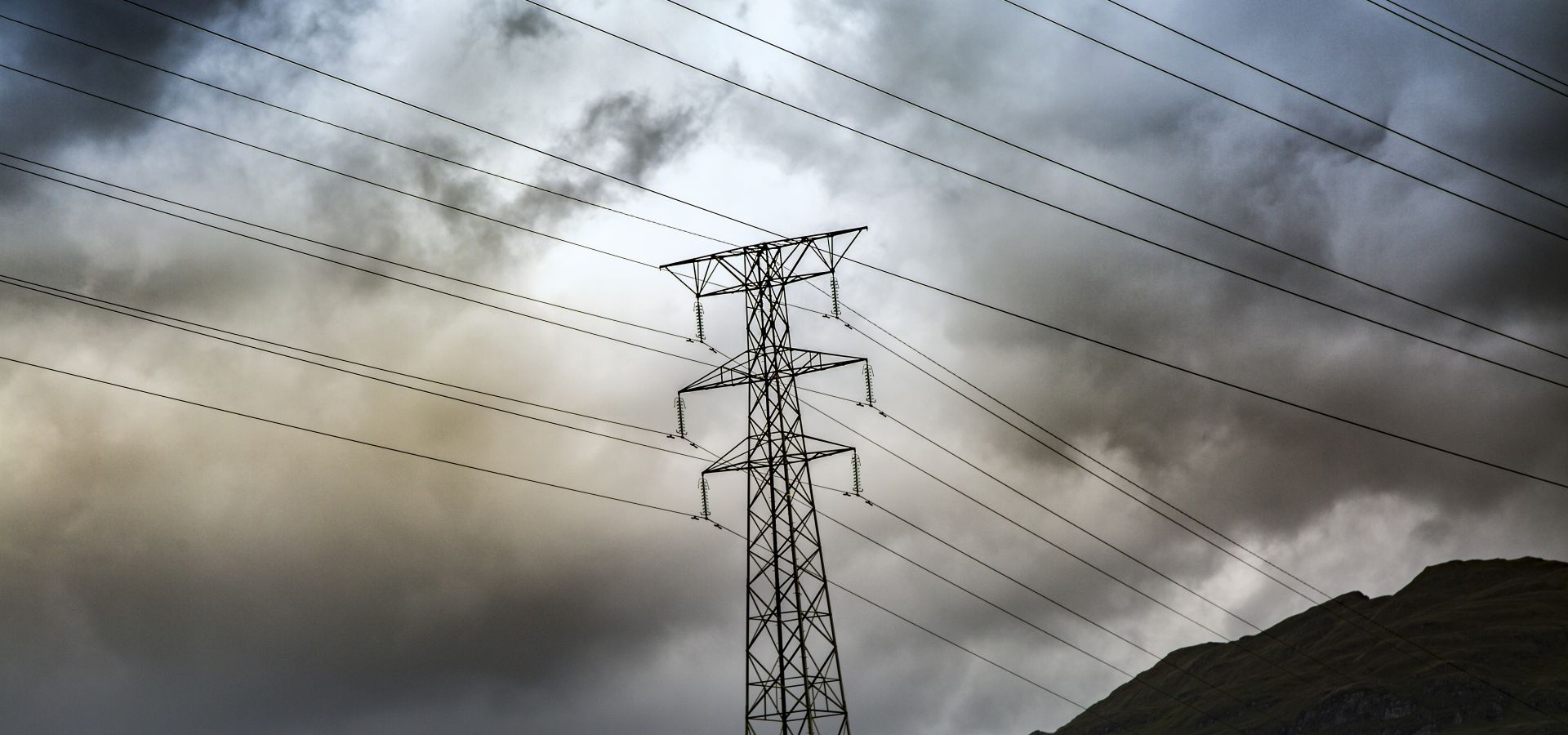 power lines in storm