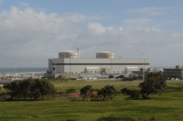 koeberg nuclear power plant with blue skies