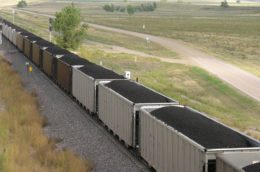 coal train in wyoming