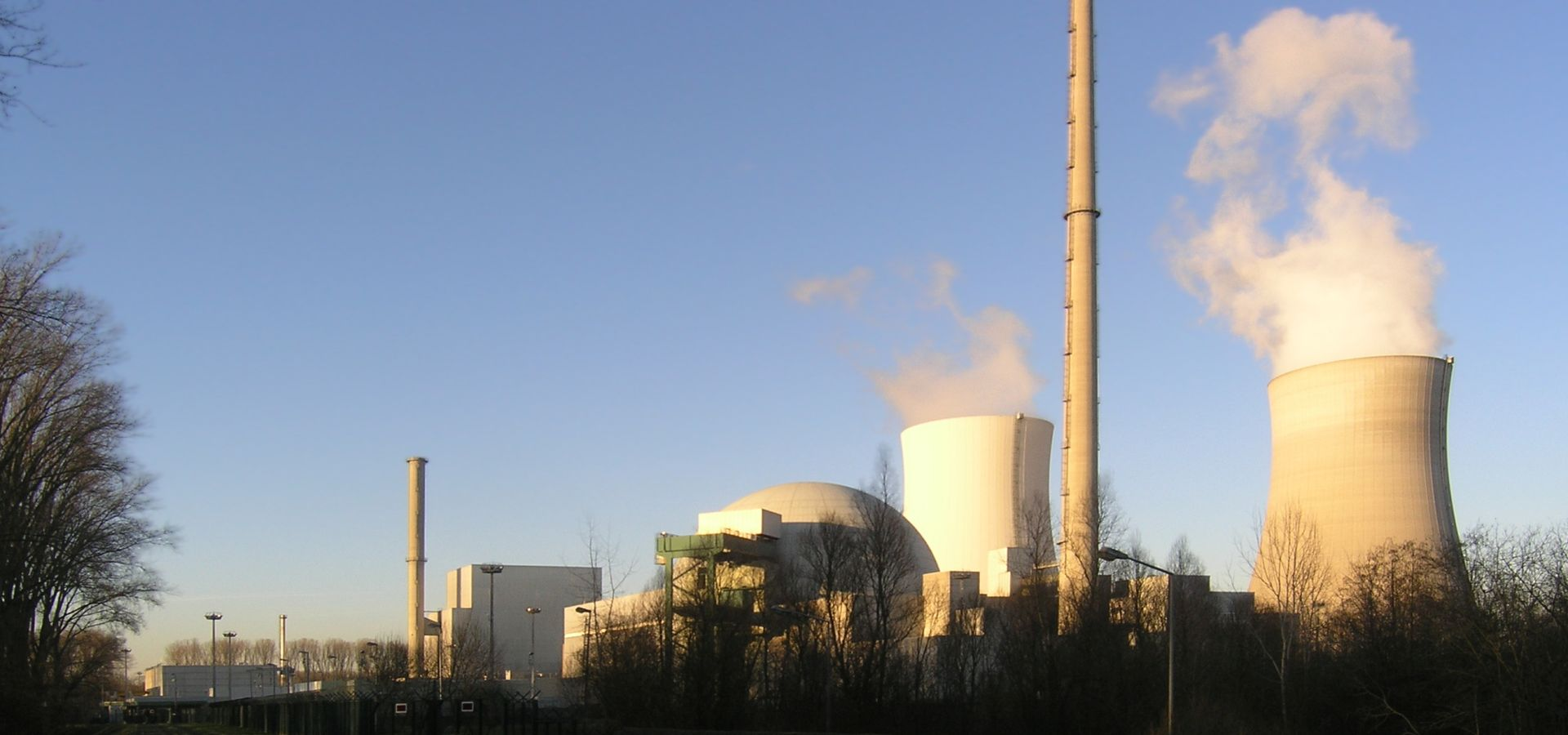 Philippsburg Nuclear Power Plant on a sunny day