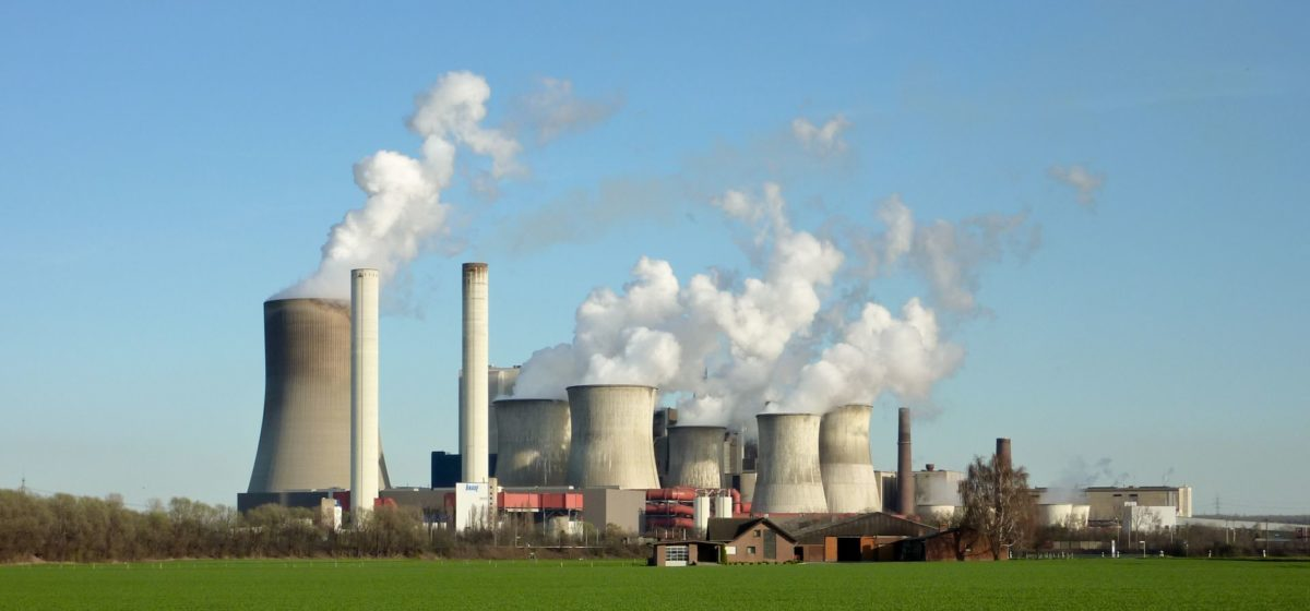 The coal powered plant of Niederaussem in Germany on a sunny day