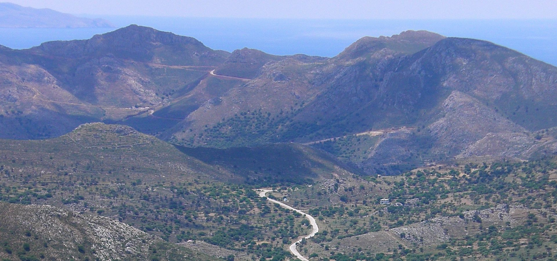 hills of greek island Tilos