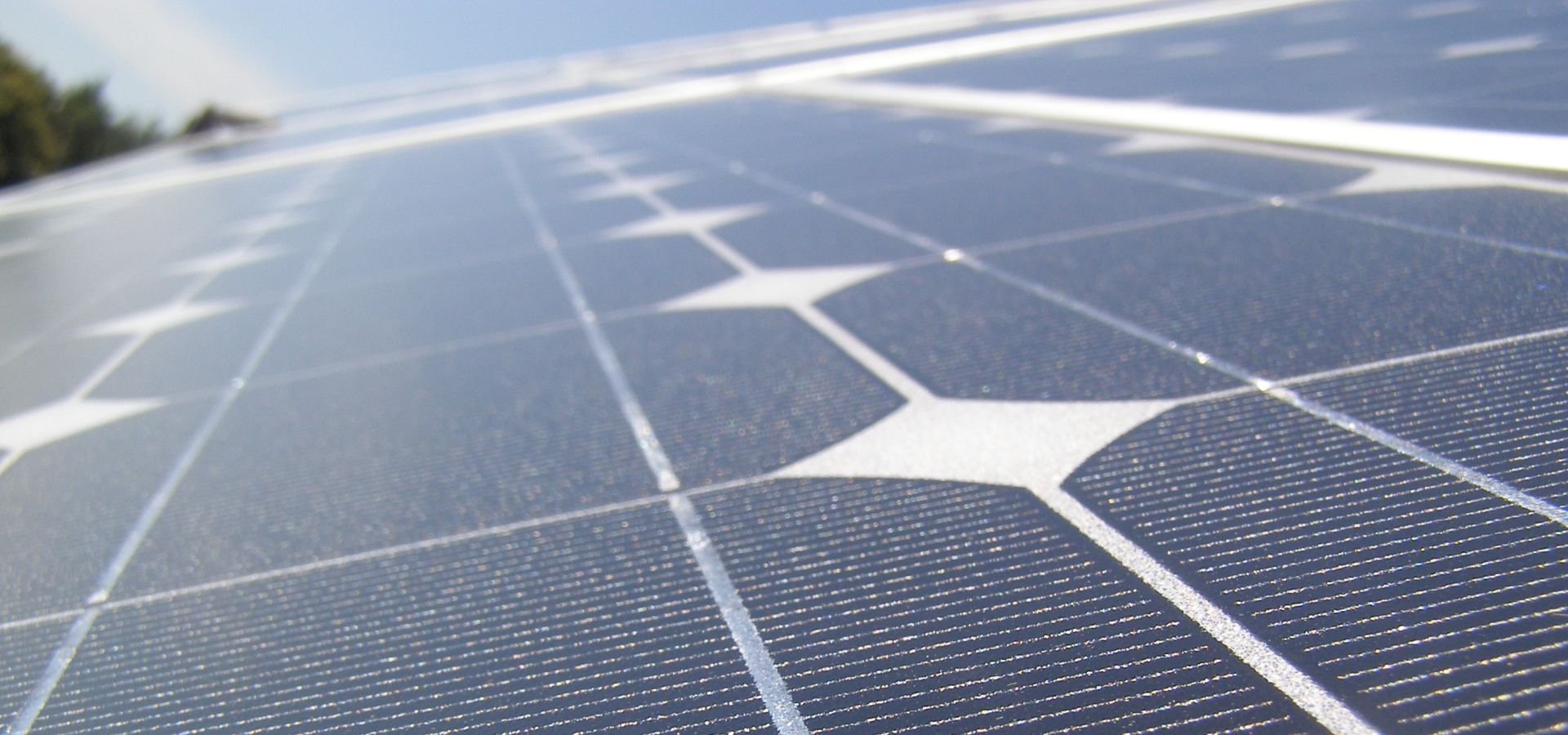 close-up of a solar panel