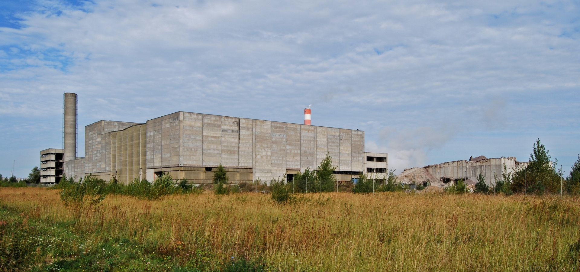 The remains of the abandoned Stendal Nuclear Power Plant near Arneburg, Saxony-Anhalt.