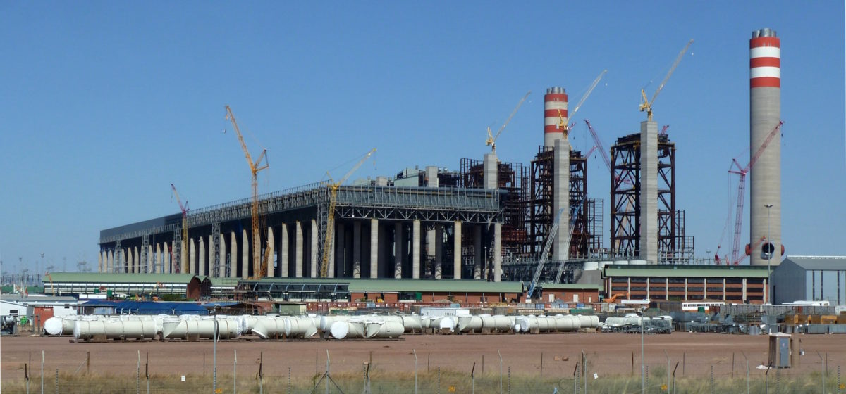the coal plant at Limpopo in south Africa under construction
