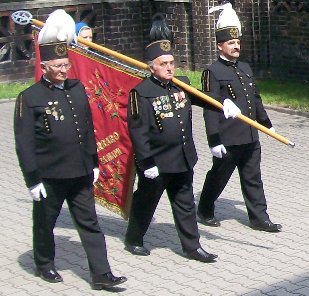 Polish Miners in traditional clothes
