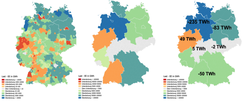 graphic of German energy grid distributions