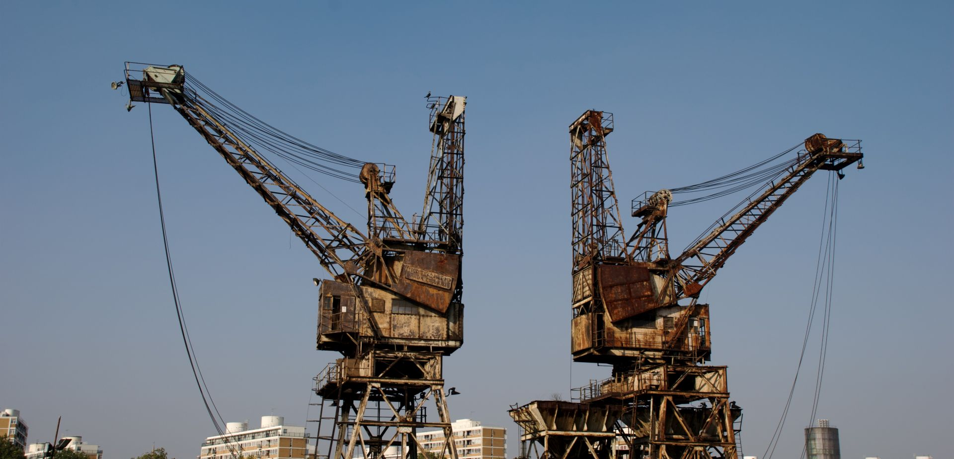 Cranes at the Battersea Power Station in London