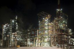 A petrochemical complex.