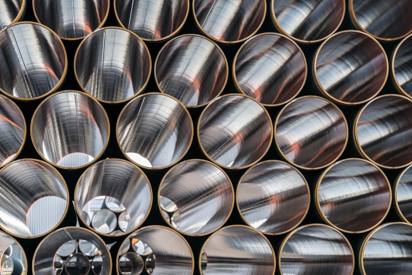 Steel pipe storage - Source: © Nord Stream 2