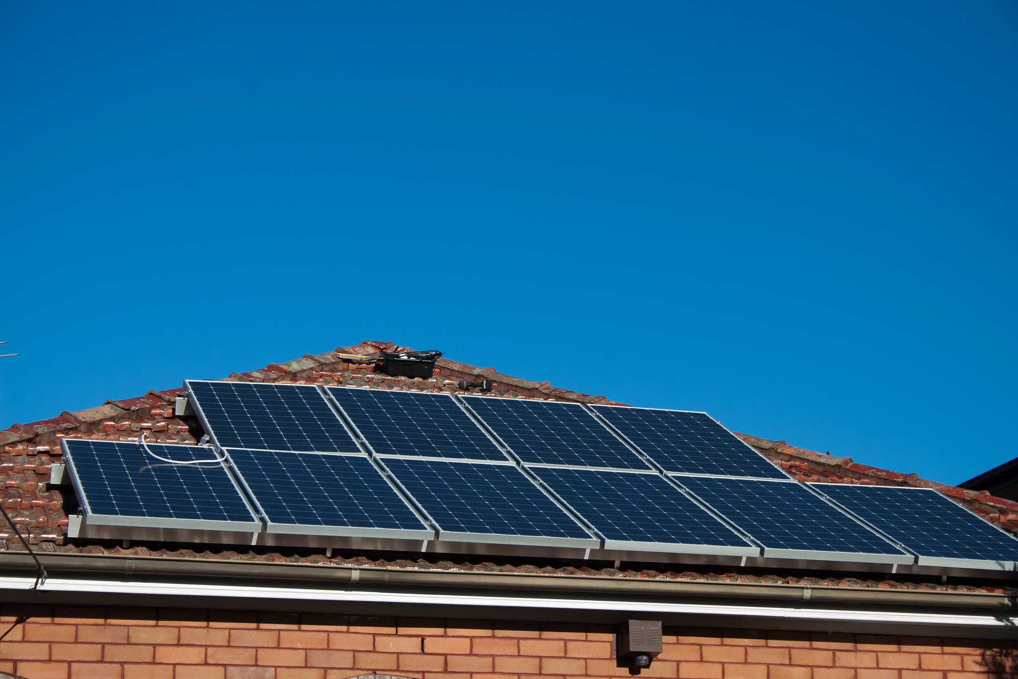 Solar panels on the roof as an opportunity